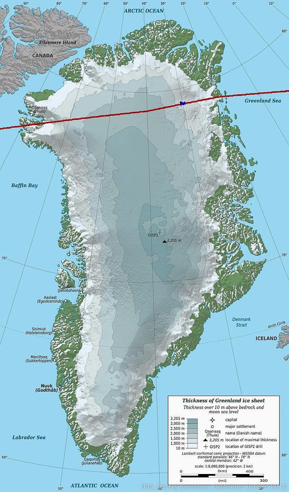 Как мы летели через Гренландию