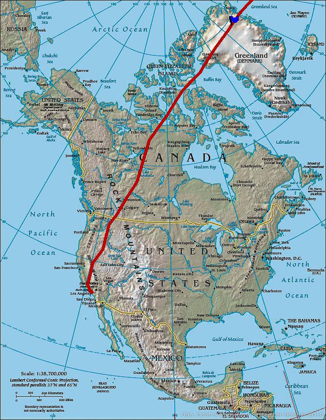 Перелет через Северную Америку