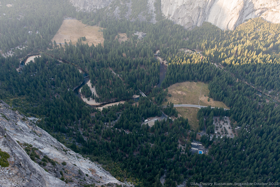 Вид на долину с Glacier Point