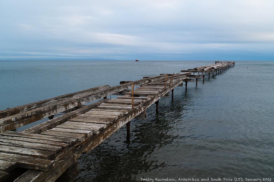 Заброшенный мост через Магелланов пролив на Огненную Землю