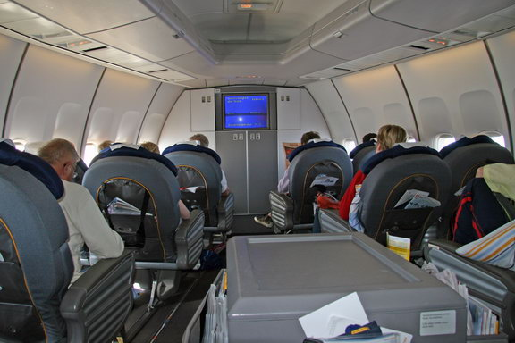 Внутри Боинга-747