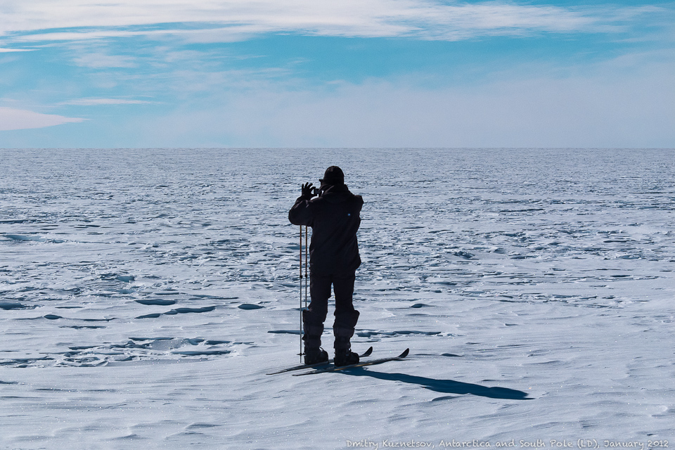 Володя снимает Антарктиду
