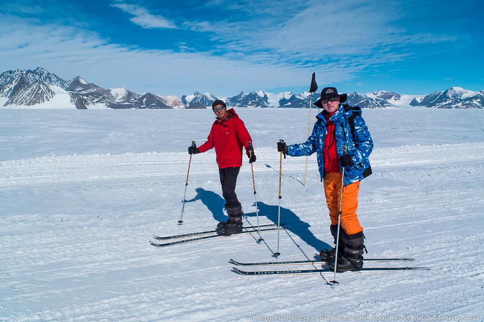 На лыжах в Антарктиде