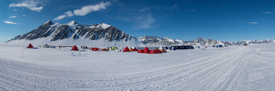 Панорама Union Glacier Camp