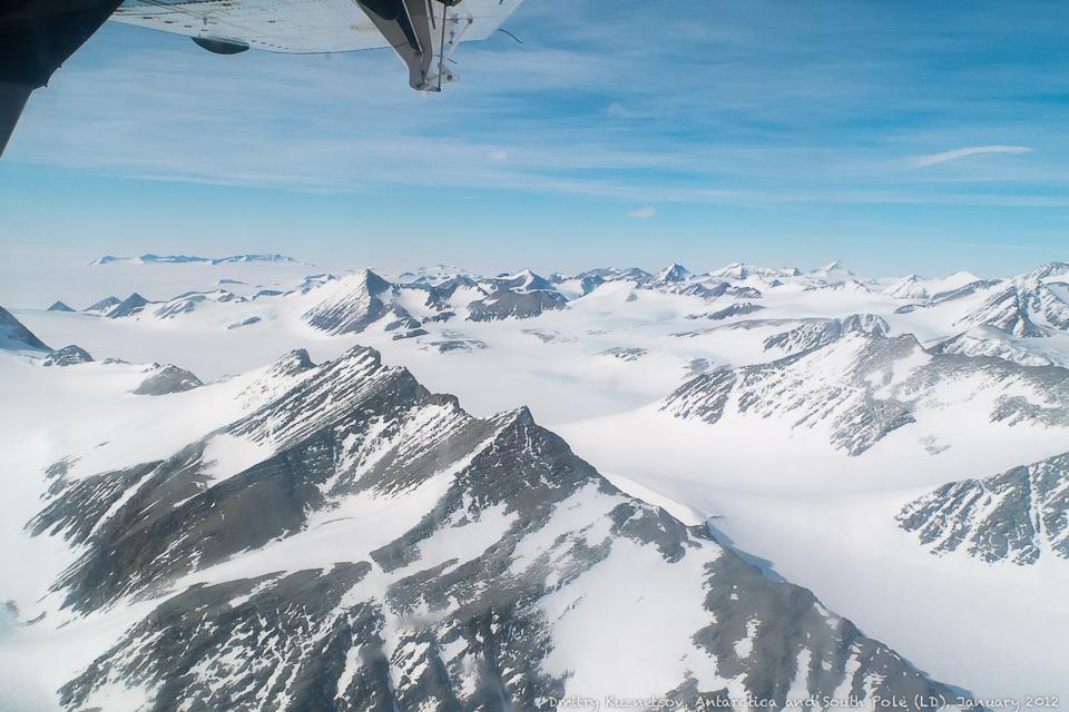 Подлетаем к Union Glacier