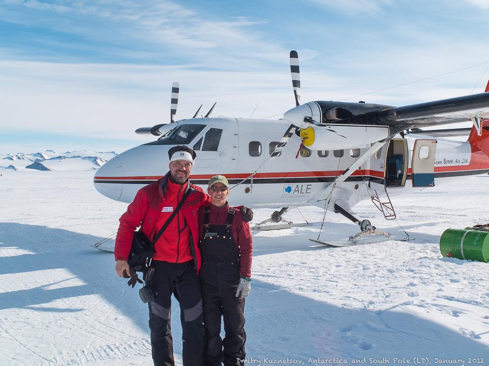 Моника, доставившая нас с Полюса в Union Glacier Camp