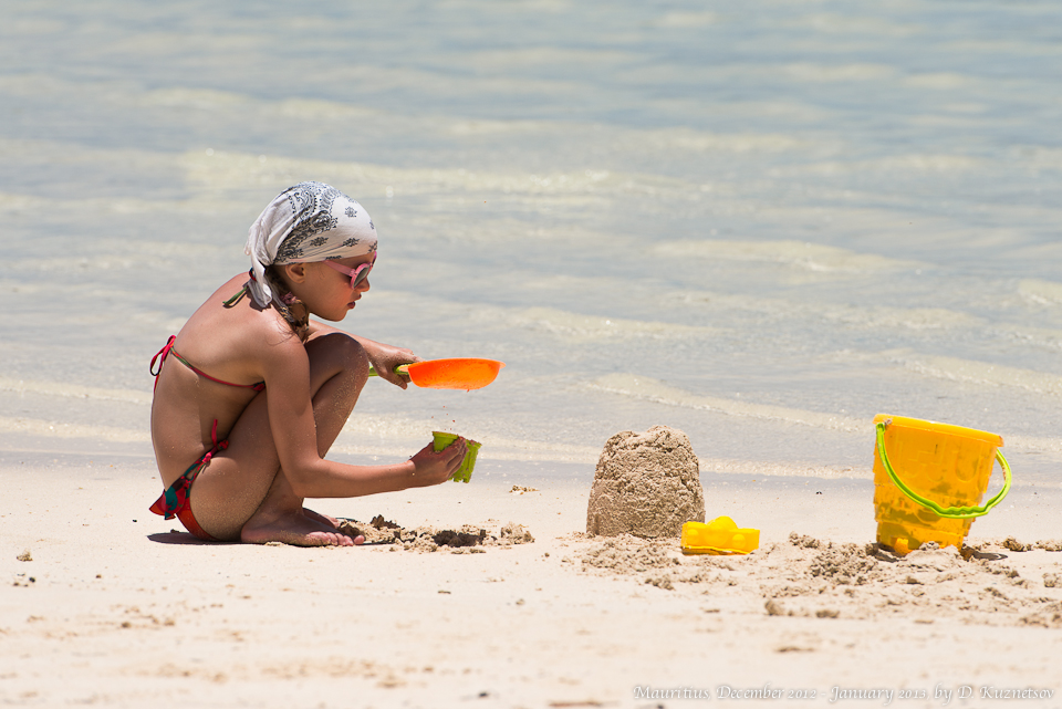 Женя на пляже