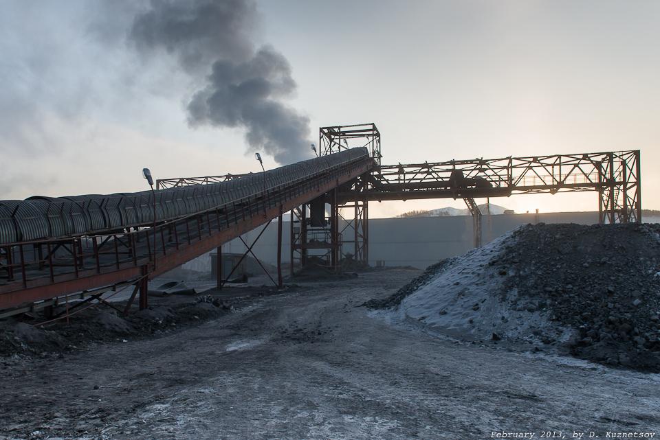 Конвейер подачи руды на обогатительную фабрику