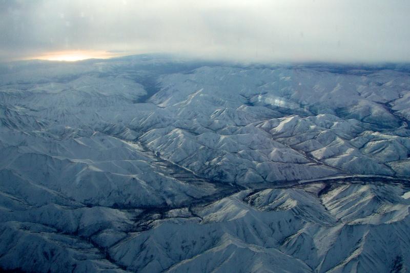 Горы и Охотское море