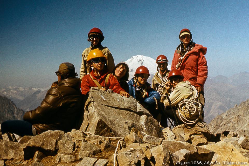 Наше отделение не вершине Тютю-баши (4350 м)