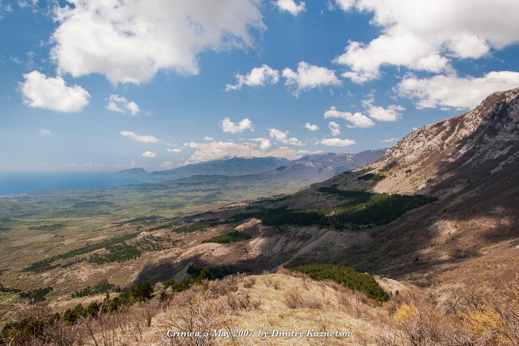 Склоны горного массива Караби-яйла