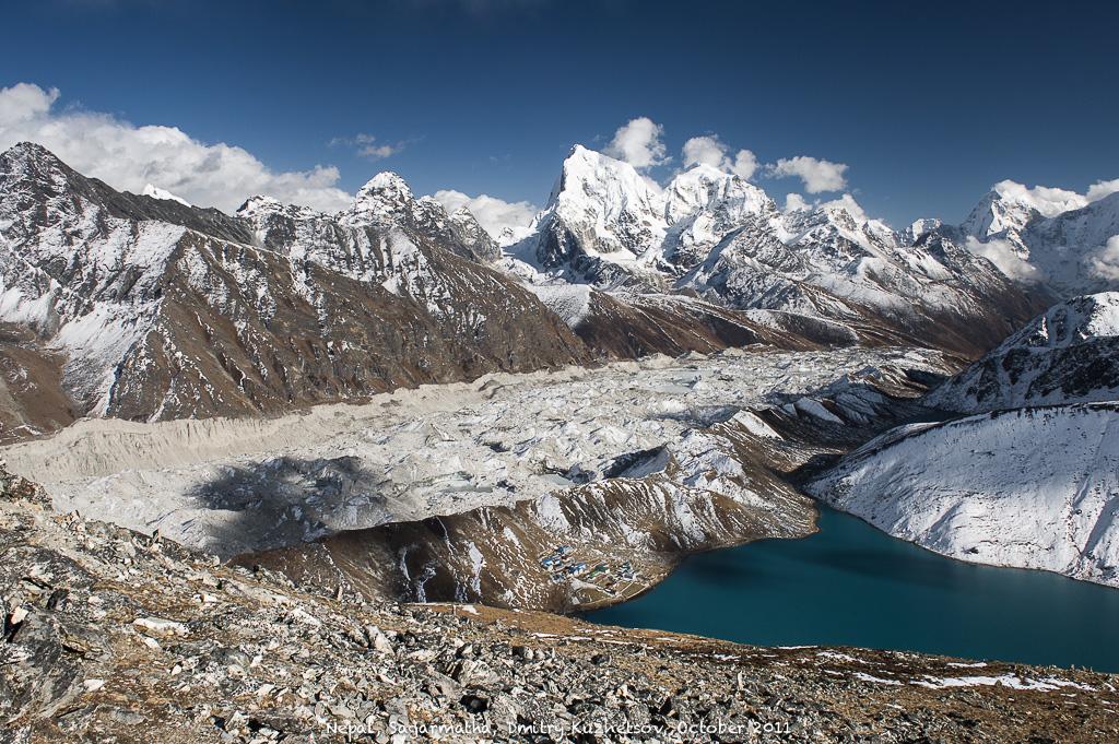 Гималаи, Непал, ледник Ngozumpa