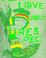 PEACE LOVE UNITY RESPECT (Светится в ультрафиолете)