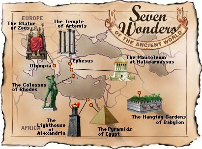 seven wonders map