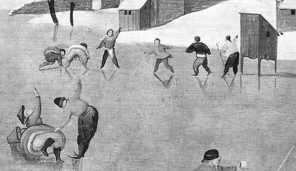 Winter by Abel Grimmer. Фрагмент
