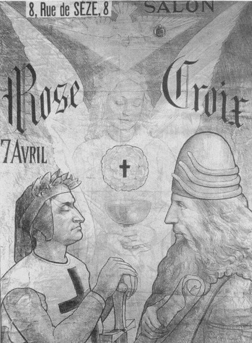 Salon de la Rose Croix. Leonardo da vinci, Dante Alighieri