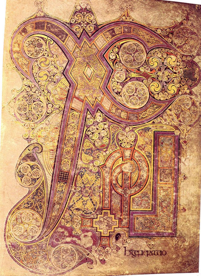 The Book of Kells, Ireland, A.D. 800