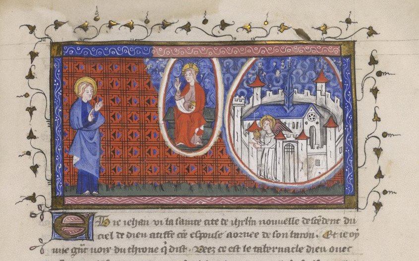 Yates Thompson 10   f. 36   Heavenly Jerusalem