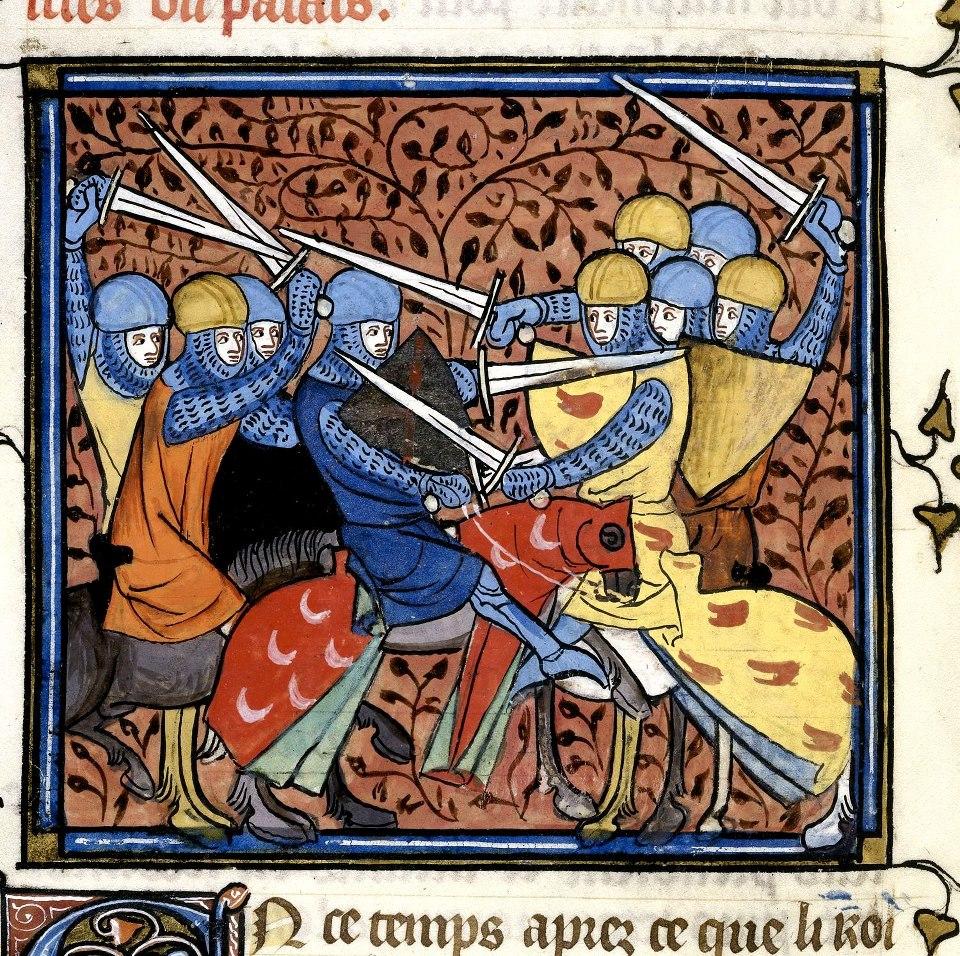 Ebroin. Chroniques de France Ou de St Denis. Origem- França, Central (Paris). Data- depois de 1332, antes de 1350
