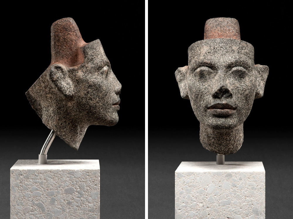 Head of Nefertiti from a former double seat statue of the royal couple, New Empire, 18th dynasty, 1351-1334 BC