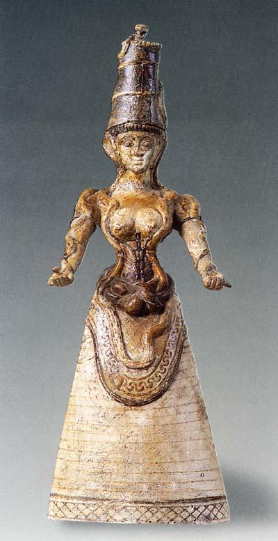Богиня со змеями. Snake Goddess