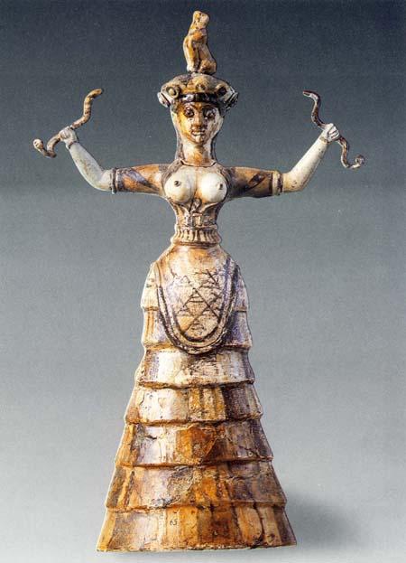 Малая Богиня со змеями