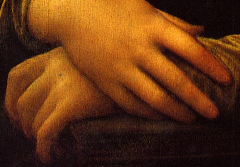 Mona Lisa, fingers. Пальцы Моны Лизы