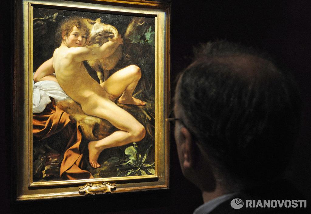 Посетитель у работы Микеланджело да Караваджо