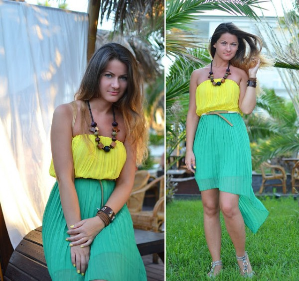 High-Low-Dress-8Yellow-green
