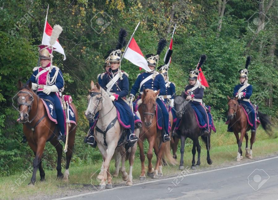 16377817-Napoleonic-cavalry-time-Polish-lancers-Historical-reconstruction--Stock-Photo