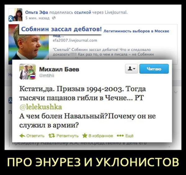 навальный против собянина