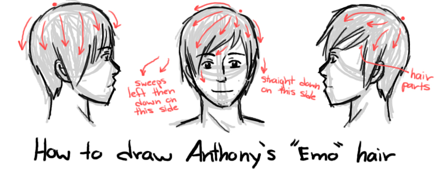 How to Draw Anthony's Emo Hair