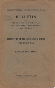 Бюллетень Общества изучения социальных последствий войны