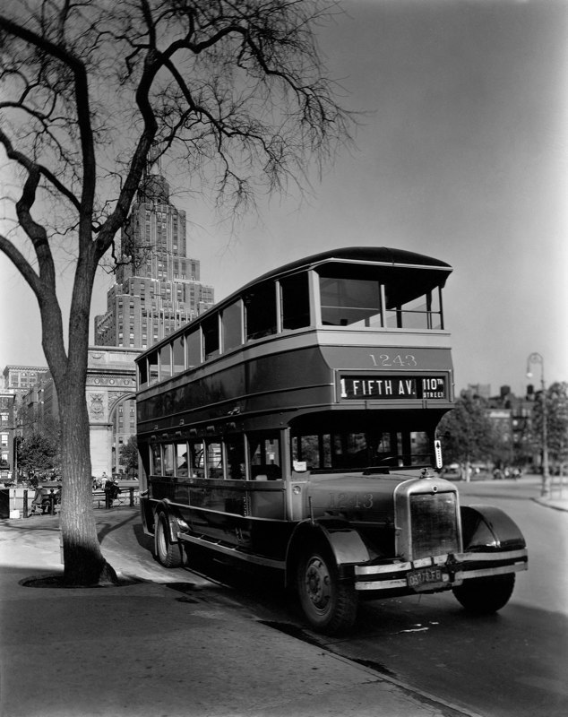 Fifth Avenue Bus Washington Square New York 1936