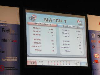 Match 1 Results