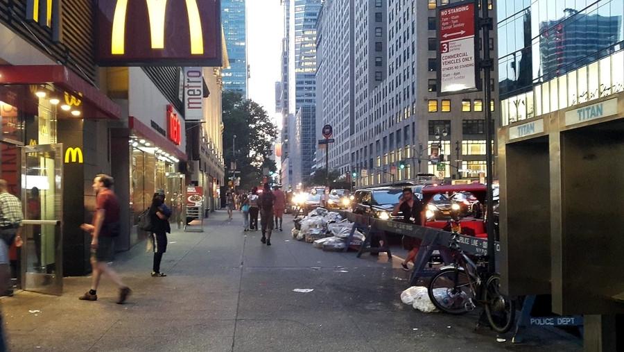 Мусор в Нью-Йорке