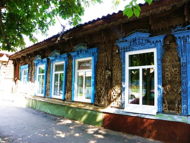 Самарские деревянные кружева. Дом с лебедями.