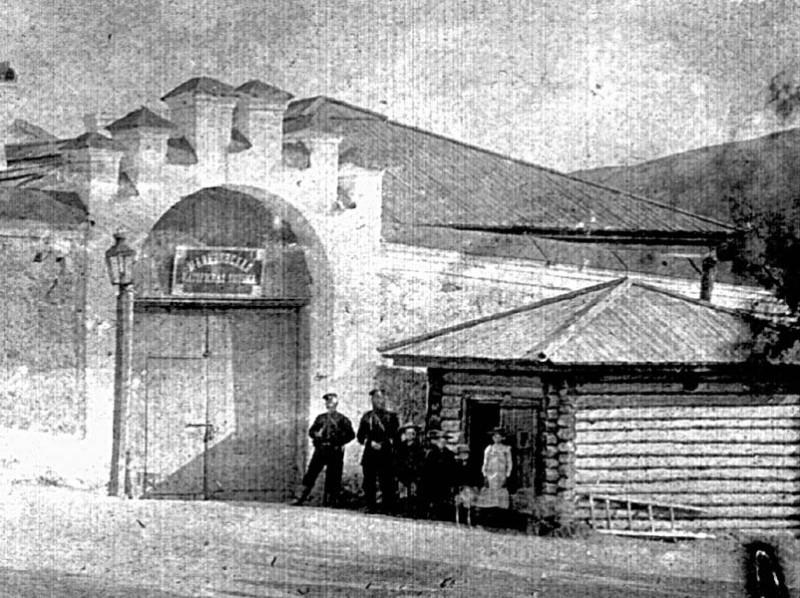 Въездные ворота при в Мальцевскую тюрьму.