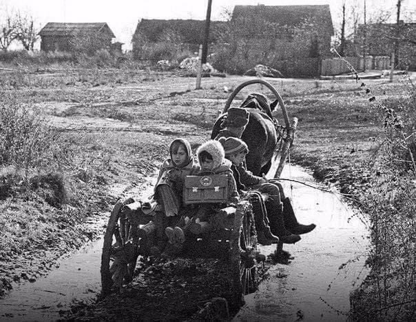 Домой со школы, Брянская область, 1989 год.