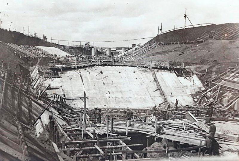 Строительство канала Москва-Волга им. И. В. Сталина