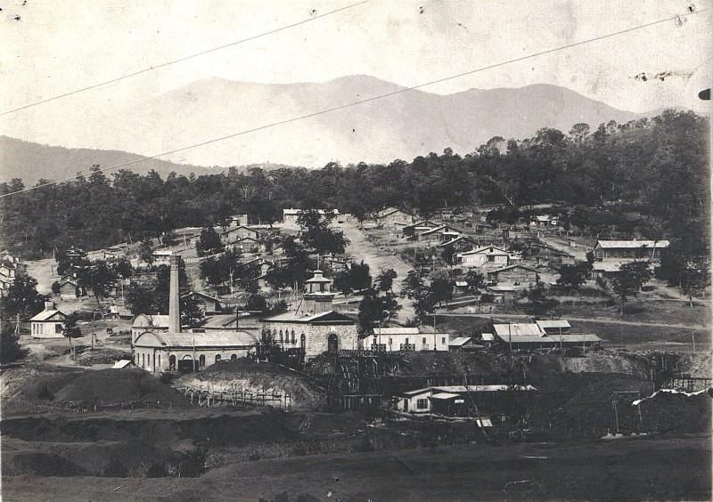Общий вид шахты №1 и шахтёрского посёлка