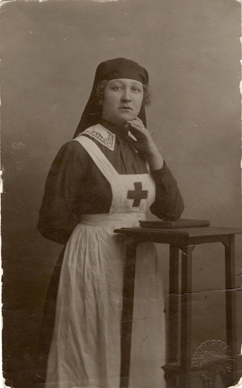 1917. Сестра Красного креста,  Жилкина Н., погибшая на фронте. Вечный помин.
