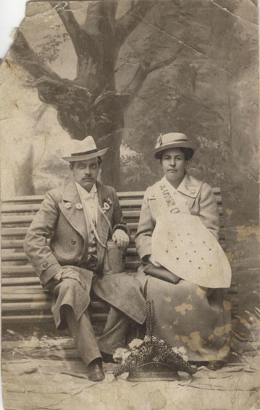 1916. Уваров и Волкова, собирающие пожертвования в пользу раненых в I мировую войну