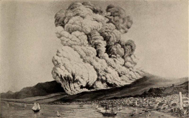 Извержение вулк. Монпеле, погубившее Сен-Пьер в 1902