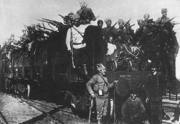 Красные большевицкие банды вошли в г. Казань.