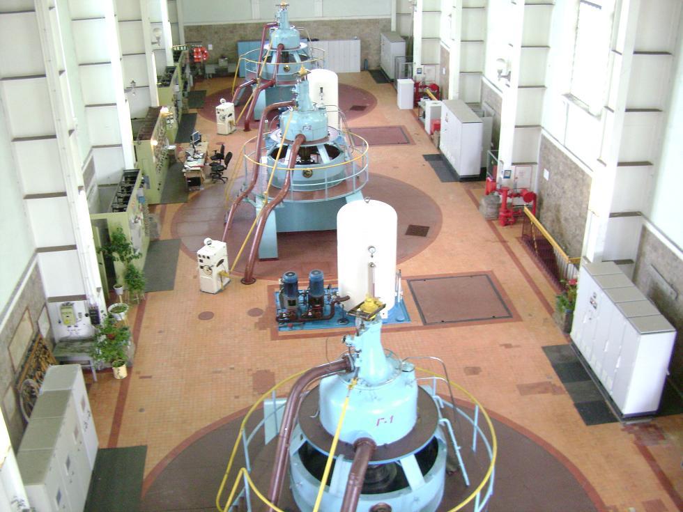 Машинный зал Маткожненской ГЭС