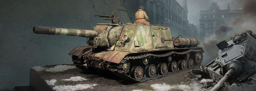 "ИСУ-152 ""Зимний зверобой"" (Tamiya 1/35)"