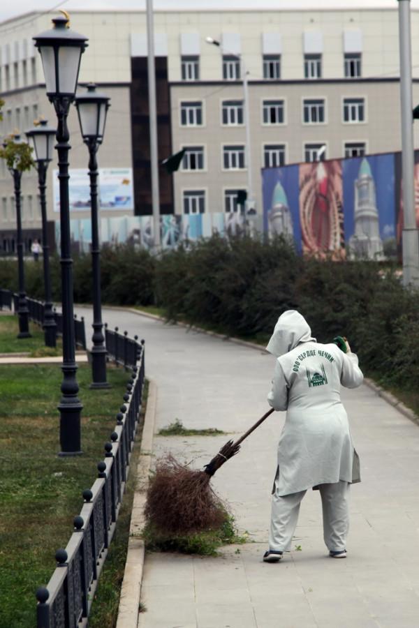на улицах Грозного чисто