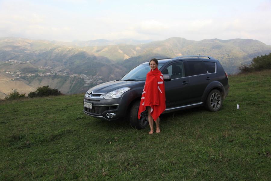 душ на высоте 200 м в горном Дагестане