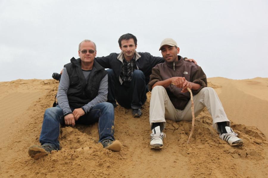 На барханах с дагестанскими друзьями - Багдатом и Ренатом